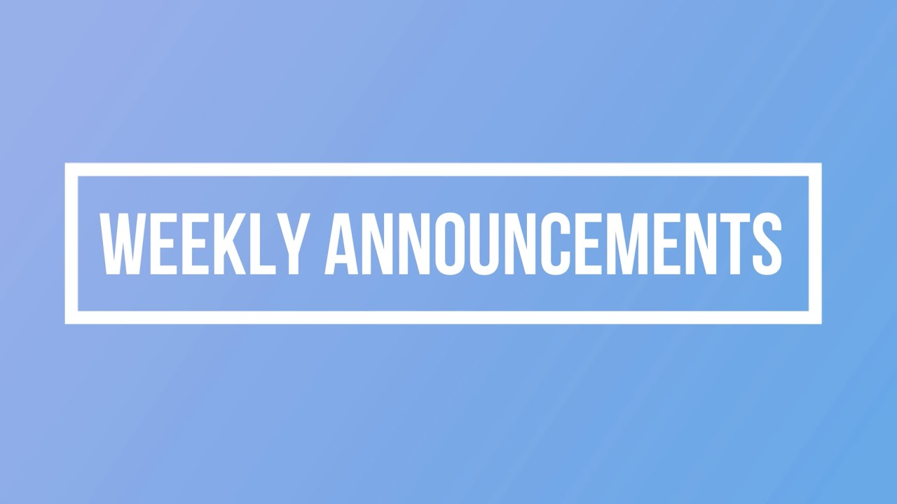 Fil-Am Church Weekly Announcements